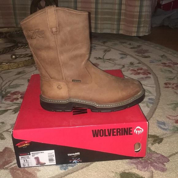 22213cfcc72 Wolverine waterproof work boots NWT